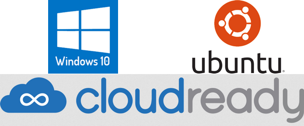 Windows Ubuntu og CloudReady logo